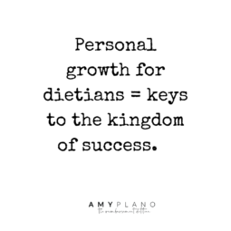 personal growth for dietitians