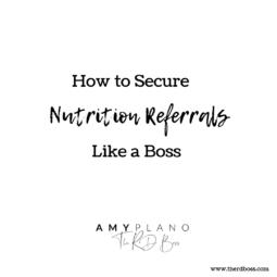 nutrition referrals