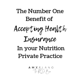 accepting health insurance in your nutrition private practice