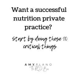 successful nutrition private practice