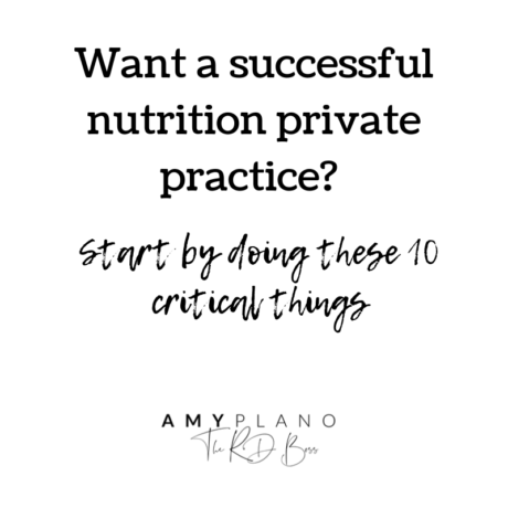 successful nutrition private practice