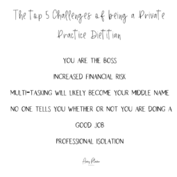 Top 5 Challenges of Being a Private Practice Dietitian